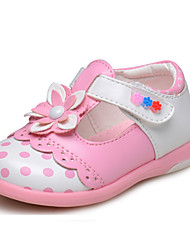 Zapatos de bebé - Planos - Boda / Exterior / Vestido / Casual - Semicuero - Rojo / Blanco