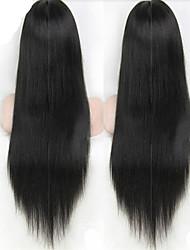 lungo rettilineo dei capelli umani serici del merletto parrucche del merletto brasiliano frontale parrucche parrucche umane economici