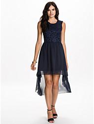 Vestidos ( Azul , Gasa/Spandex/Encaje , Ropa de Noche ) - Ropa de Noche - para Mujer