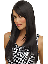 Fashion Capless High Quality Pretty Medium Straight Black Hair Wig