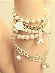 New Arrival Fashional Popular Multilayer Pearl Bracelet