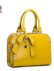 Handcee® Fashion Cheap Woman PU Good Quality Big Bowknot Lady Tote Bag