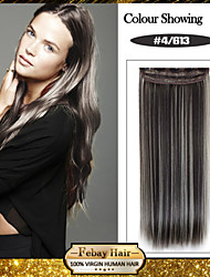 5 Clips Long Straight color 4/613 Synthetic Hair Clip In Hair Extensions For Ladies more colors available