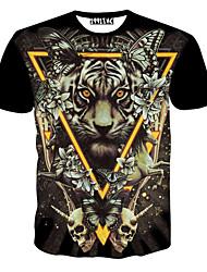 Opdruk Rond - MEN - T-shirts ( Katoen )met Korte Mouw