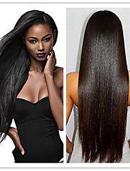 Cheap Brazilian  Glueless Front Lace Wigs Virgin Human Hair Silky Straight For Black Women Color #1,#1B,#2,#4, In Stock