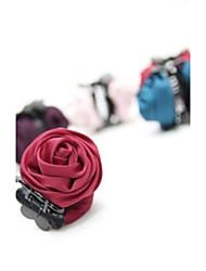 Rose Fabric Hair Claws