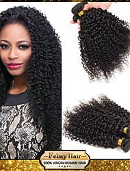 Febay Hair Malaysian Virgin Hair Kinky Curly 12 14 16 18 20 22 24 26 28 30 Inch 1pcs/lot 100g/pcs