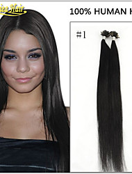 "Premium Quality Brazilian Human Remy Hair Extensions Keratin Nail U Tip Hair 1g/s 100s/pack 18""-28""in stock"