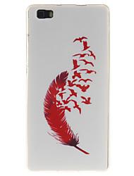 Для Кейс для Huawei / P8 Lite Ультратонкий Кейс для Задняя крышка Кейс для Перо Мягкий TPU Huawei Huawei P8 Lite