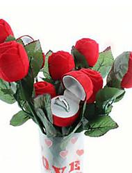 Rose Jewelry Box Wedding Engagement Ring Valentine Gift Box