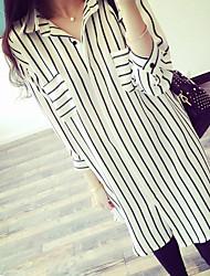 Maternity Shirt Collar Shirt , Chiffon Long Sleeve