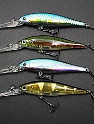 """4 pcs Poissons nageur/Leurre dur / leurres de pêche Kits de leurre / Poissons nageur/Leurre dur / Fretin Violet 10.3 g/3/8 Once mm/4-1/2"""""""
