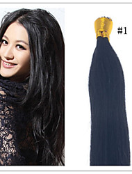 "Cheap Indian Virgin Straight Hair Pre-bonded Hair Keratin I Tip Hair Extensions 18""-28""1G/S 50G/PC 1Pc/Lot In Stock"