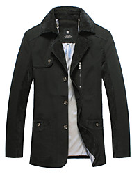 2015 Brand New Men Jackets Asian Size Pure Black Color Formal Fashion Men Clothing 113-3 8818 SP001592