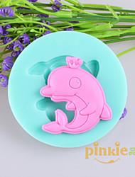 Dolphin Fondant Cake Chocolate Silicone Molds,Decoration Tools Bakeware