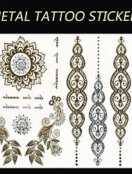 2015 New India Metallic Flash Tatoo Temporary Stickers Waterproof Sexy Tattoo Body Art\Leaves VS Pendants\Fake Tattooing
