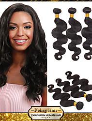 malaisien vierge vague de corps noir naturel 8-30 pouces 1pc / lot 100g par paquet première trame de cheveux non traités