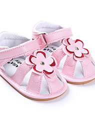 Baby Shoes Wedding/Dress/Casual Faux Leather Sandals Pink