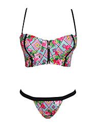 Women's Sexy Kaleidoscope Print Balconette Bikini