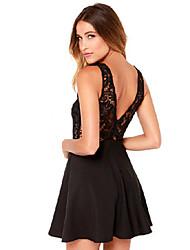 Vestidos ( Algodón )- Casual Sin Mangas para Mujer