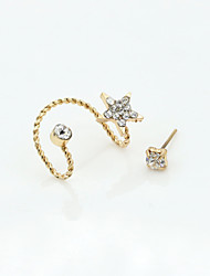 Earring Stud Earrings Jewelry Women Alloy / Cubic Zirconia / Gold Plated 1set Gold / Silver