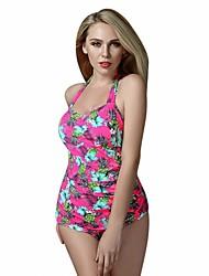 Foclassy Women's Push Up Plus Size Print One piece Swimwear With Halter Neck Swimming Suit Swimwear