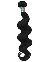 "100g/lot 10""-30"" Cheap Virgin Brazilian Body Wave Human Hair Weave 1B Black Soft Weaving Hair Weft Free Shedding"