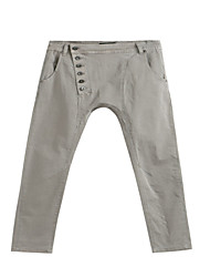 Women's Light Grey Regular Fitting Casual Pants