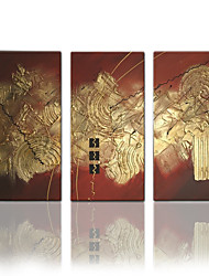 VISUAL STAR®Hand-Painted Abstract Modern Oil Painting Canvas Three Panels