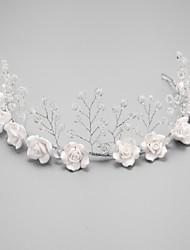 Femme Jeune bouquetière Cristal Alliage Imitation de perle Casque-Mariage Occasion spéciale Serre-tête 1 Pièce