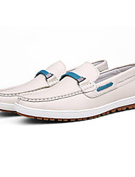 Men's Shoes Outdoor/Casual Leather Boat Shoes Blue/Brown/White
