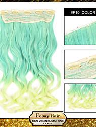 resistencia a altas temperaturas en dos tonos ondulada extensión peluca 5 clip de 24 pulgadas 16 colores f10 disponibles