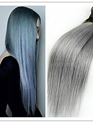 3pcs / lot preiswerte neue brasilianische reine gerade 1b / grau ombre Haarverlängerungen Silber grauen Haaren keine Verwicklung kein