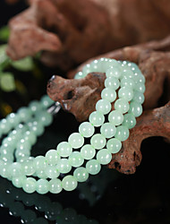 6mm Natural Jade with Two Purpose Ball Bracelet