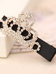Korea Sweet Crown Rhinestone Hairpin