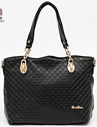 Handcee® Hoe Sale Woman PU Quilted Embossing Simple Shoulder Bag