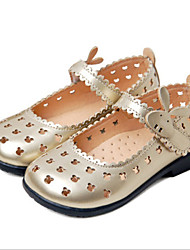 Girls' Shoes Casual Round Toe  Flats Pink/White/Gold