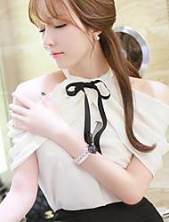 Women's Halter Blouse , Chiffon ½ Length Sleeve