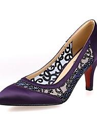 Women's Shoes Silk Stiletto Heel Heels Pumps/Heels Casual Pink/Purple