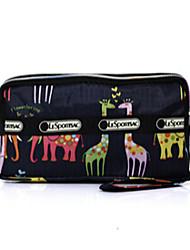 nylon saco de cosméticos das mulheres - rosa / roxo / azul / vermelho / preto