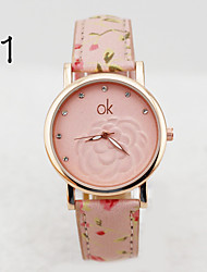 Ladies' OK Literal Roses Fashion watches