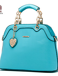 Handcee® Cheap Woman Good Quality PU Simple Lady Tote Bag