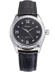 Herren-Business-Stil zweiten Wahllederband Quarz-Armbanduhr