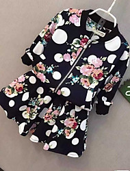 BONITO Baby Girl Flower Printed Sweater and Skirt Suit