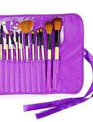 12Pcs Makeup Brushes Professional Cosmetic Make Up Brush Set (3 Assorted Colors)