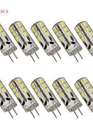 10 kpl g4 3W 24 SMD 2835 280 lm lämmin valkoinen / viileä valkoinen t koriste led bi-pin valot DC 12 / ac 12 v