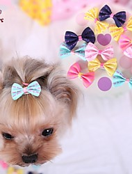 Cat / Dog Hair Accessories / Hair Bow Blue / Pink / Yellow / Rose Spring/Fall Wedding / Cosplay