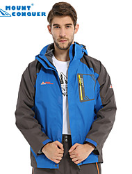 Mount Conquer Men's with Fleece 2in1 Ski Snowboard Jacket Hiking Jacket  Windproof Thermal Hiking Camping Jacket