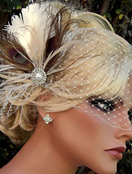 Hand Made Wedding Feather Hair Clip Fascinator Headpieces Fascinators 028