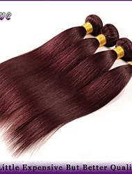 """4Pcs/Lot 10""""-26""""Burgundy Brazilian Hair Straight Virgin Hair Cheap Human Hair 100g Bundles Queen Hair Products"""